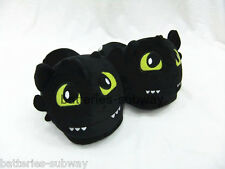 How to Train Your Dragon Unisex New Night Fury Toothless Plush Slippers Shoes