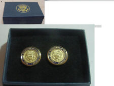 Pair of  new  presidential Seal diecast button  - no signature