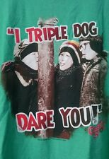 A Christmas Story I Triple Dog Dare You tshirt men's size Large Green