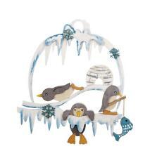 Bastelsatz Fensterbild Pinguin NEU Erzgebirge Volkskunst Holz Selbstbausatz