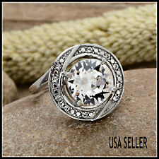 TGW 6.30 cts. Large White SWAROVSKI Austrian Crystal Ring
