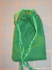 """GREEN FLANNEL BAG -2"""" X 3""""--TO MAKE MONEY DRAWING MOJO/ GRIS-GRIS"""
