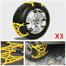 3X Emergency Truck Car Snow Automobile Anti-skid Tire Chain Chains Installation