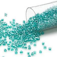 DB0918 Miyuki Delica Seed Beads  7.5g Tube Lined Turquoise *UK EBAY SHOP*