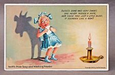 1909 SWIFT'S PRIDE SOAP shadow silhouette GOAT advertising postcard *