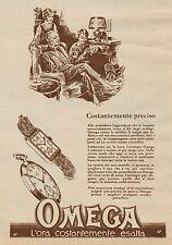 Y9805 Orologi OMEGA - Costantemente preciso - Pubblicità d'epoca - 1927 Old ad