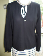 Vintage Black Blouse label Yessica C&A size M