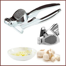 Garlic Press Heavy Duty Metal Crusher Squeezer Presser Rubber Grip Kitchen Tool
