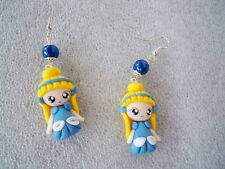 ORECCHINI IN FIMO FATTI A MANO CENERENTOLA CINDERELLA EARRINGS