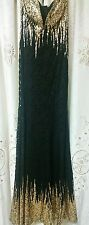 Black/Gold Lace Dress Large