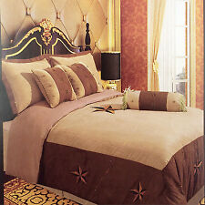 Embroidery Printed Texas Western Star Luxury Comforter Suede 7 Pieces Set Queen