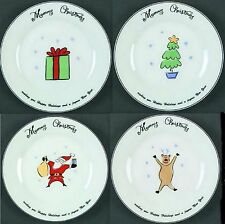 Merry Christmas By Merry Brite Set of 4 Dinner Plates