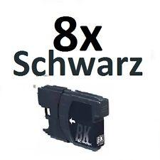 8 Tinte Schwarz für DCP145C DCP165C DCP185C DCP195C ersetzt Brother LC980 LC1100