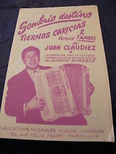 Partition  Sombrio destino Tiernos Caricias de Juan Claudiez Tangos