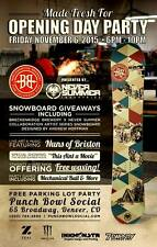 NEW! Never Summer Breckenridge Brewery Snowboard - Colaberation w/Andrew Hoffman