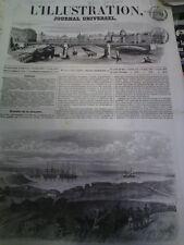 L'illustration n°573 18 fév 1854 navire le laromiguière pont melbourne australie