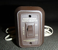 *NEW* POWER SOURCE OUTPUT SELECTOR SWITCH TODD ENGINEERING SALES, INC RV CAMPER
