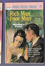 RICH MAN POOR MAN by NORREY FORD Womans Weekly Library no. 619 1970