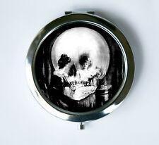 SKULL ILLUSION Compact Mirror Pocket Mirror VANITY punk Horror Goth Psychobilly