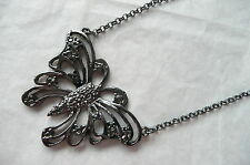 BLACK NECKLACE - BUTTERFLY DESIGN - BRAND NEW