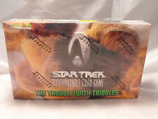 STAR TREK CCG TROUBLE WITH TRIBBLES COMPLETE SEALED BOX OF 30 PACKS