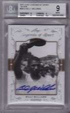 BILLY WILLIAMS 2011 Leaf Legends of Sport Silver autograph BGS 9 w/10 auto Pop 1