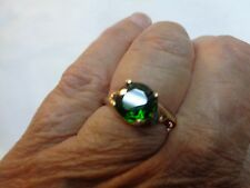 Estate Ring,  1.57ctw    Russian Chrome Diopside  in 14K   Yellow Gold