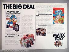 Big Wheel Four-Page PRINT AD - 1974 ~~ Cap'n Crunch, Longhorn, Marx Toys
