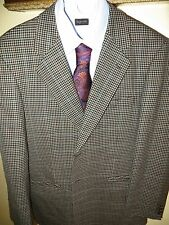 Spinoza Italy Mens Gled Plaid 2 Button Blazer Suit Sort Coat Jacket 40 R Awesome