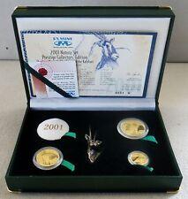 2001 GOLD SOUTH AFRICA GEMSBOK NATURA 3 COIN PRESTIGE SET 300 ISSUED