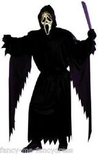 Mens Black Ghostface Scream with Mask Halloween Fancy Dress Costume Outfit