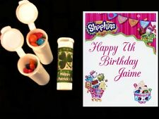 Shopkins party favors personalized candy tubes