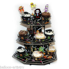 35.5cm Boo Buddies Monsters Halloween 3-Tier Card Cupcake Cake Stand