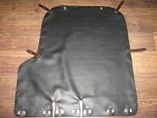 Handmade Top Quality Black Sidecar Cover Dnepr MT Contrasting Leather Straps
