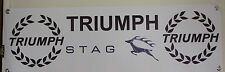 triumph stag  large pvc heavy duty WORK SHOP BANNER garage man cave SHOW