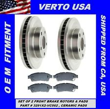 Set Of 2 Front Brake Rotors & Ceramic Pads fits 1992-1999 Toyota Camry 4 Cyl.