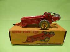 DINKY TOYS  321 MASSEY-HARRIS MANURE SPREADER - RED - GOOD CONDITION
