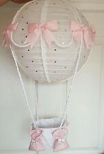 Hot air balloon light shade pink looks stunning nursery