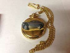 Citroen GS ref48 pewter effect emblem gold quartz pocket watch