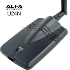 Alfa U24N Wireless 802.11n USB Wi-Fi adapter 350mW for Mac Yosemite & Windows 8