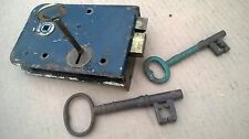 VINTAGE RIM LOCK VINTAGE KEY ANTIQUE KEYS ANTIQUE RIMLOCK KEY VINTAGE DOOR LOCK