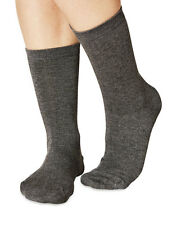 Jackie women's super-soft plain bamboo crew socks in charcoal | By Braintree