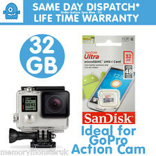 32GB Sandisk Ultr MicroSD UHS-1 48MBs Memory Card for GoPro Hero 3 Black Hero 4