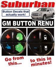 2007-2013 Chevrolet Suburban AC Climate Control Dash Buttons Repair Decal Set