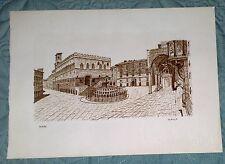 Perugia  acquerello S.Boneschi 1982