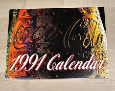 Belle ancienne Coca-Cola Calendrier 1991 USA Coke calendrier