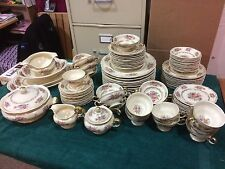 ROSENTHAL IVORY CHINA,12 SETTINGS, 103 PIECES,FLORALS,GOLD FILIGREE PATTERN R47