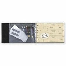 7-Ring 3-on-a-Page Business Check Book Binder with Vinyl Pouch  -Burgundy-