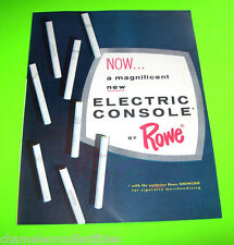 COMMANDER By ROWE 1962 ORIGINAL NOS CIGARETTE VENDING MACHINE FLYER BROCHURE