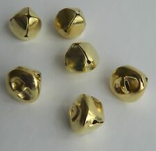 Christmas Craft Jingle Bell ~ Gold Metal Round Bells Charms 15mm x 11mm